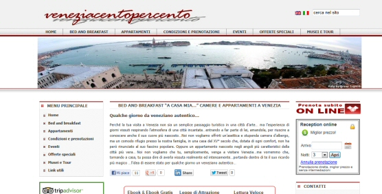 Sito Web veneziacentopercento.it