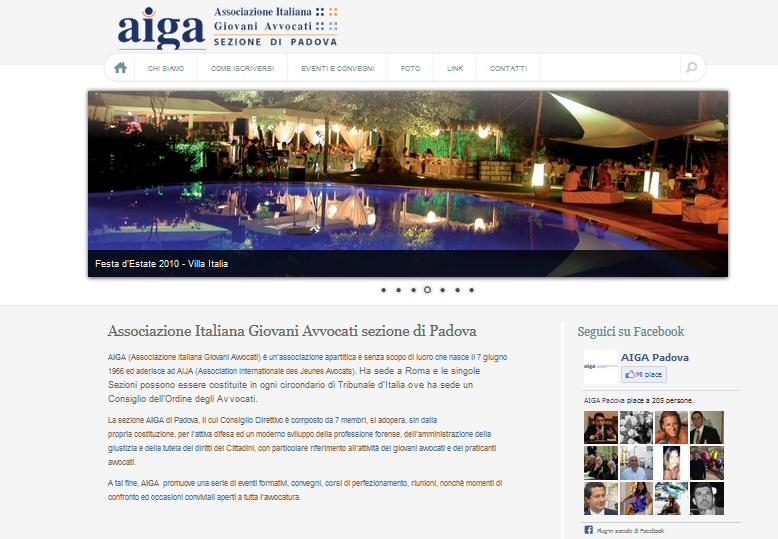 Sito Web dell'AIGA Padova